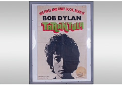 The advertising poster for Bob Dylan's Tarantula book taken from Tottenham Court Road tube station in 1971