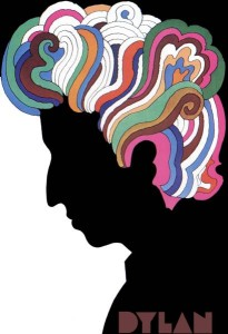 Milton Glaser's psychedelic Bob Dylan poster from the Greatest Hits album